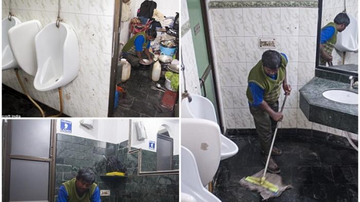 Kisah Seorang Ayah yang Rela Tinggal di Toilet Demi Anak-Istri